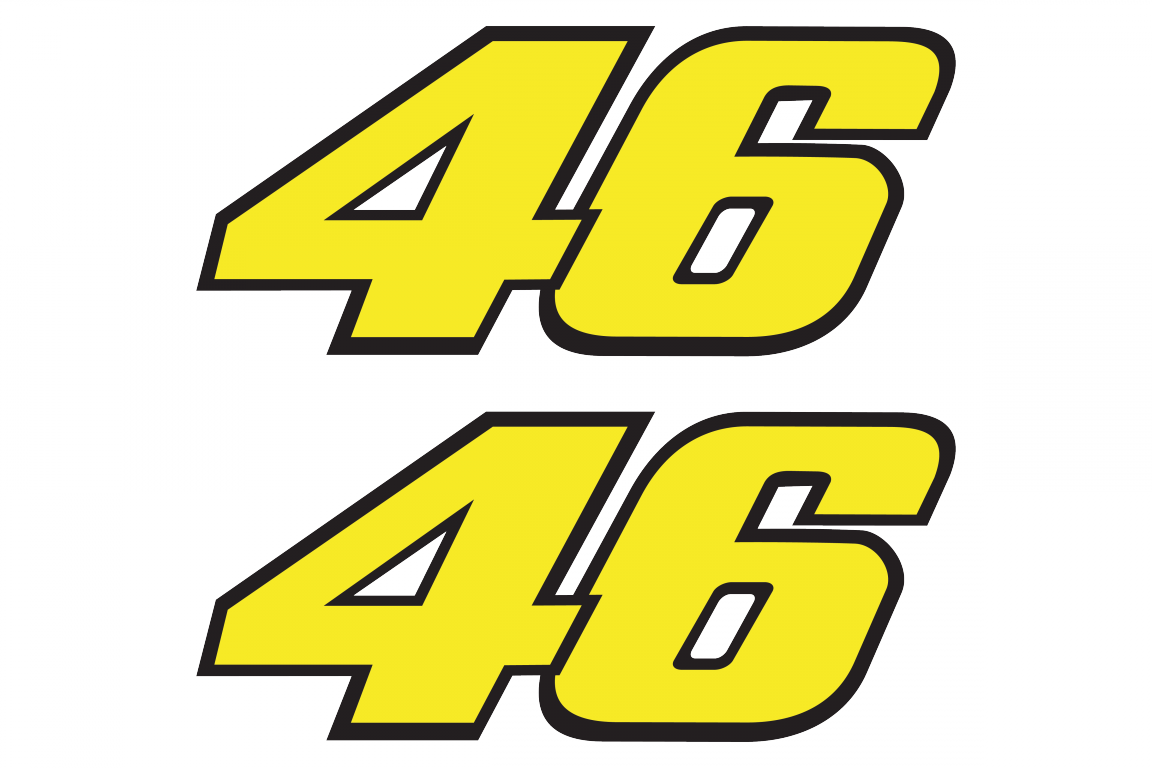 Racing number 46 stickersFull color print, set of 2 stickersChoose the size yourself! - MotoGP ...