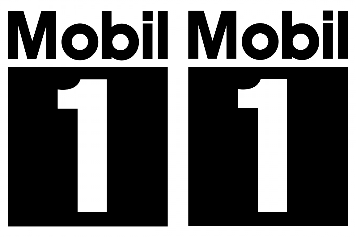 mobil 1 logo stickerschoose the color yourselfand select