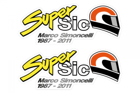 OUTLET: MotoGP Stickers Marco Simoncelli Super Sic II