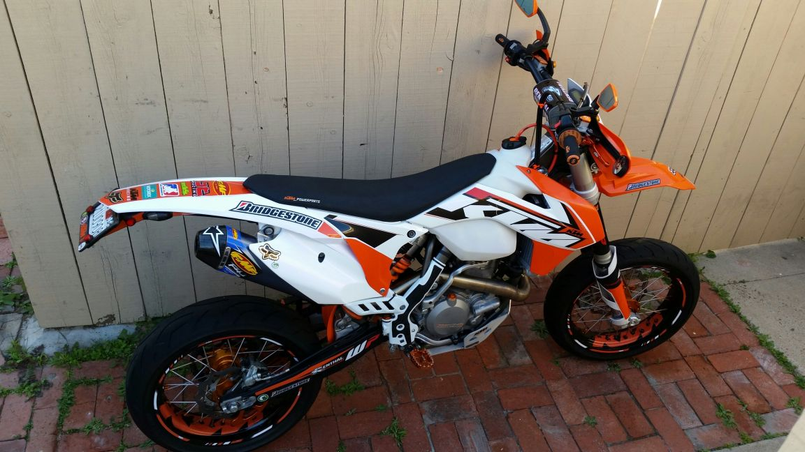 White And Black Ktm