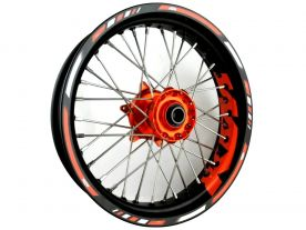 Rim striping Adventure KTM 450 525 640 660 690 SMC Orange
