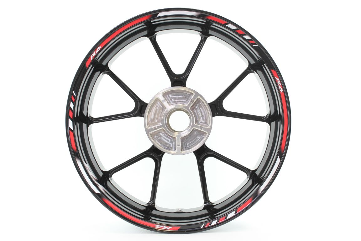 Give your YZF R6 a truly unique look with this set Rimstriping SpecialGP Yamaha YZF R6 red ...
