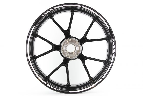 give your motorcycle a truly unique look with this set rimstriping motogp white  quick and easy